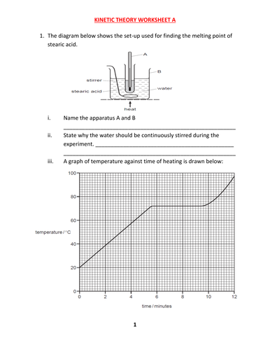 KINETIC THEORY WORKSHEET A WITH ANSWERS