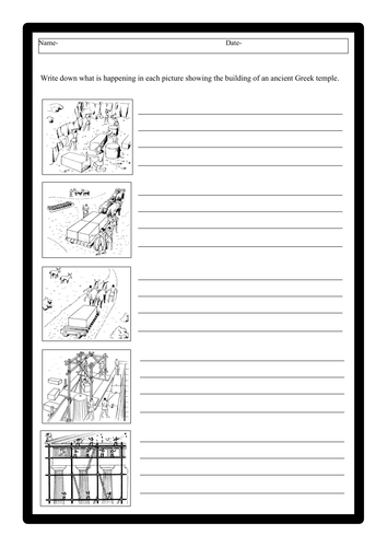 Ancient Greeks - Architecture Worksheets
