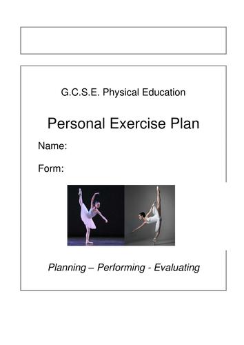 Gcse Pe Pep Personal Exercise Program Template Example