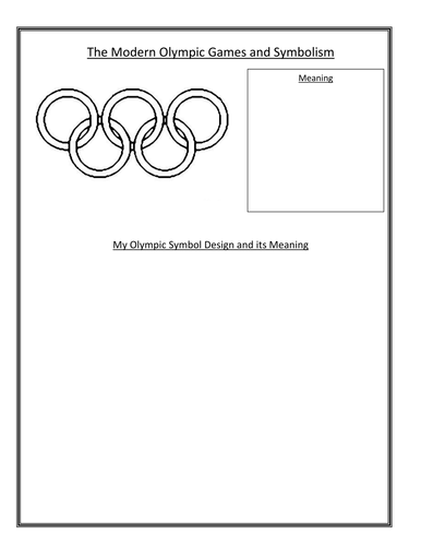 Ancient Greece Greeks Olympic Games Symbol Worksheet By