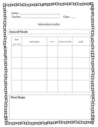 Geography skills and intervention trackers