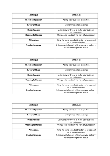 match up activity for persuasive writing