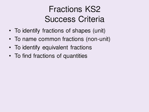 KS2 Maths Fractions Mastery Activities and Teaching Content Year 4/5 for NEW curriculum