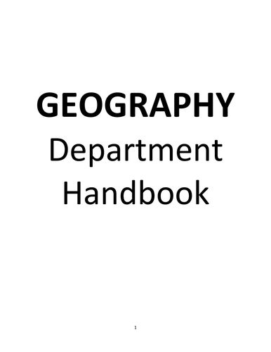 Subject Handbook (Geography)