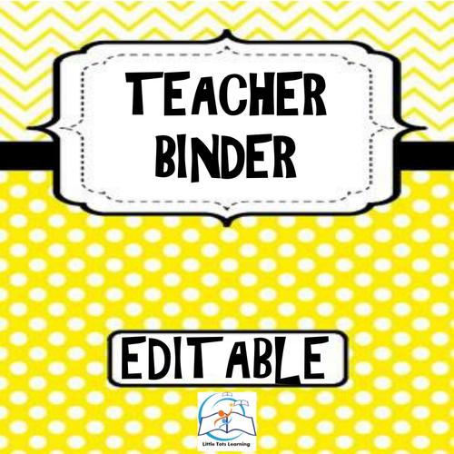 Teacher Binder - Editable Teacher Binder
