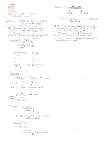 Torque (Moment) - Conditions for equilibrium - Statics (Center of gravity)