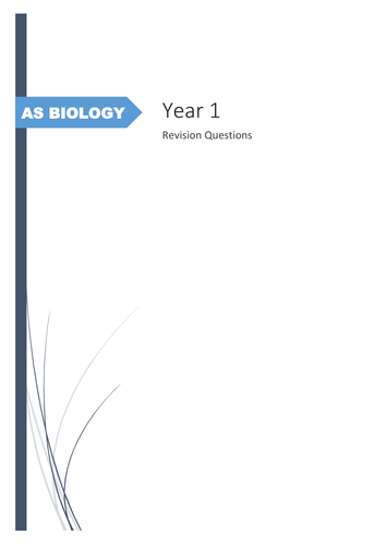 AQA AS Biology: Year 1 Summary Questions and Mark Scheme