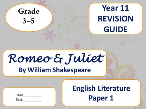 AQA Lit Romeo & Juliet Revision guides