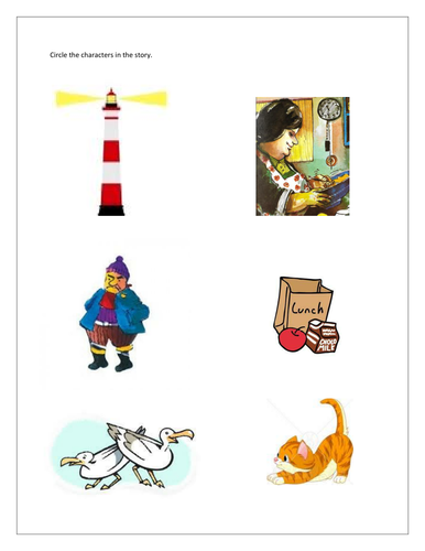Lighthouse keepers lunch (Characters in the story) -SEN