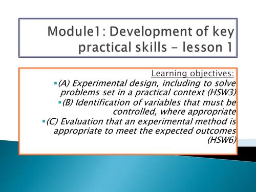 OCR A level Biology - Module 1 complete bundle