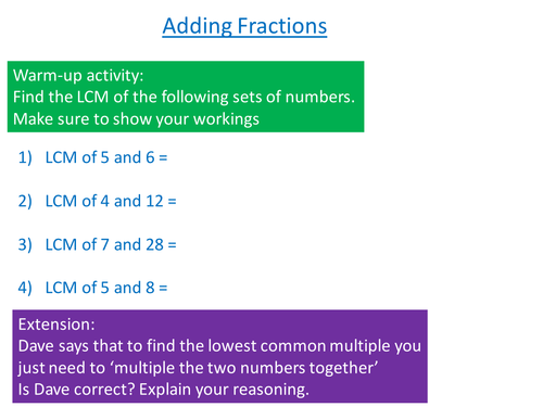 Adding Mixed Number Fractions