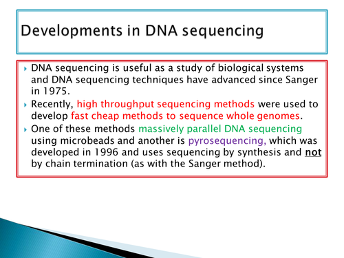 NEW SPEC - A level bio - OCR - Module 6 Genetics - Chapter 3 Genomes- USES OF DNA sequencing