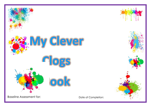 'Clever Clogs Book' Nursery/Reception EYFS Baseline Assessment for 22-36 months and 30-50 months