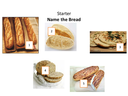 GCSE Food and Nutrition presentation for basic bread dough