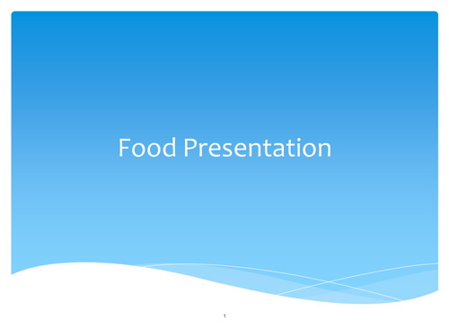 GCSE Food and Nutrition PowerPoint for food presentation