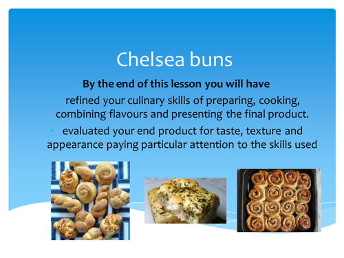 GCSE Food and Nutrition lesson for enriched dough