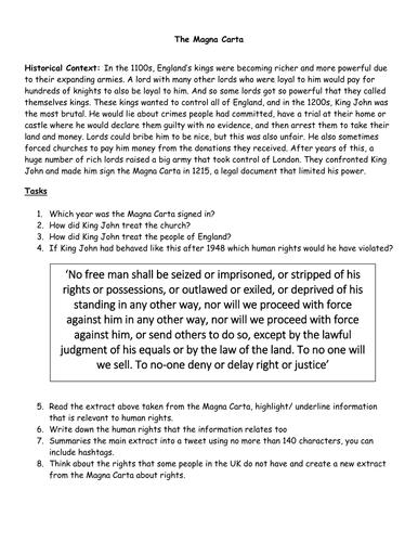 Magna Carta and human rights