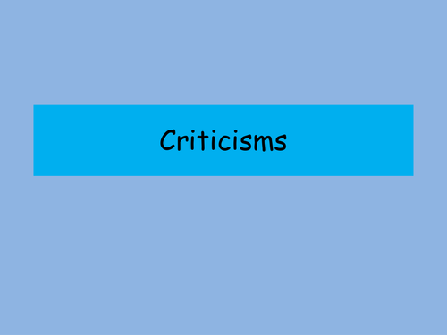 Criticisms to Jung's Theory of Religion - A level RS