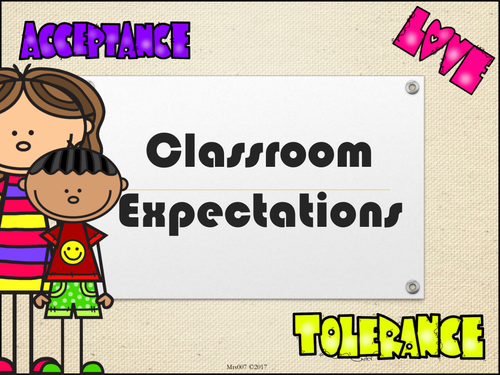 Classroom Expectations Presentation for KS3/KS4