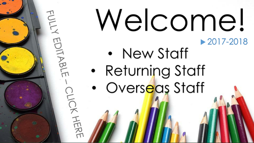 Welcome Staff Presentation Template