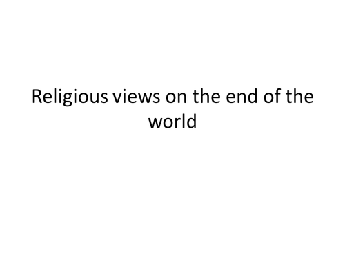 Religious views on end of the world