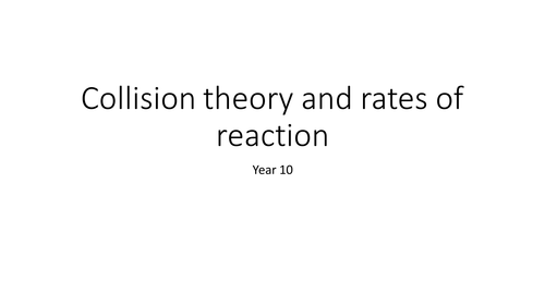Collision theory practical/presentation