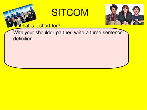 Eduqas GCSE Media Studies 9-1 Component 2a TV Sitcom The IT Crowd and Friends lesson 1