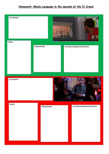 Eduqas GCSE Media Studies 9-1 component 2a TV Sitcoms The IT Crowd and Friends lesson 5