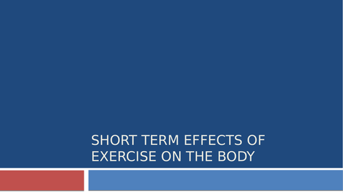 Effects of Exercise GCSE PE Full Lessons