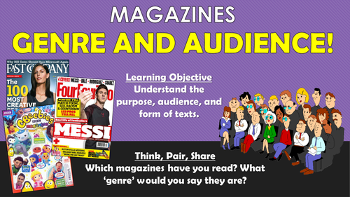 Magazines - Genre and Audience! (Writing Front Covers)
