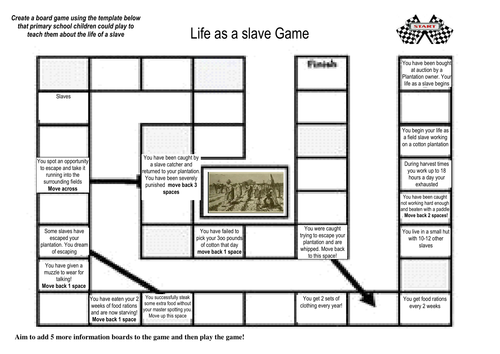 0166531a9e8 Life as a slave board game lower ability version by gjolly2 ...