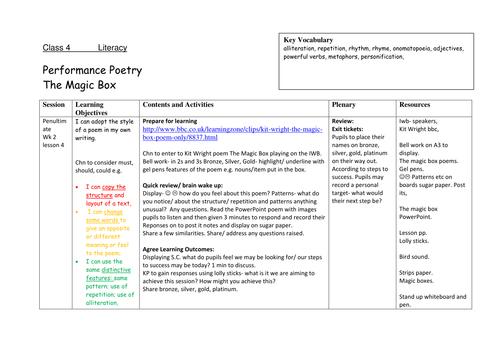 Performance Poetry!