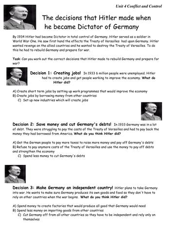 Hitler decision making activity