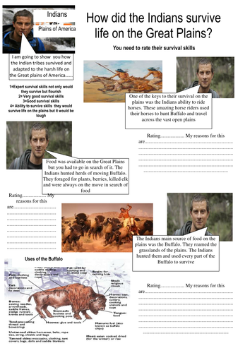 Bear Grylls Mission survive Indian survival on the Great Plains