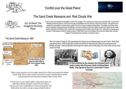 Sand Creek massacre and  Red Clouds war creating a movie trailer activity American West
