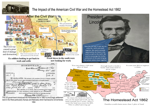 The Impact of the American Civil War and the Homestead Act 1862