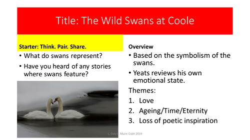 The Wild Swans at Coole - W. B. Yeats