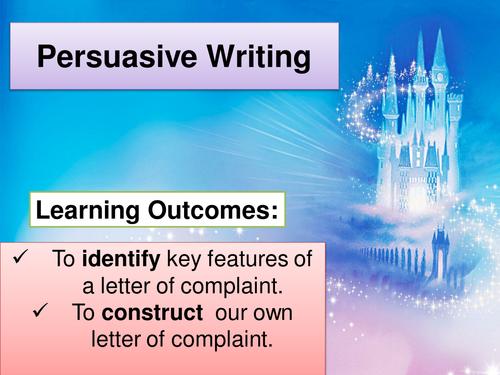 KS3/GCSE SEN - Letter of complaint (Low Ability)