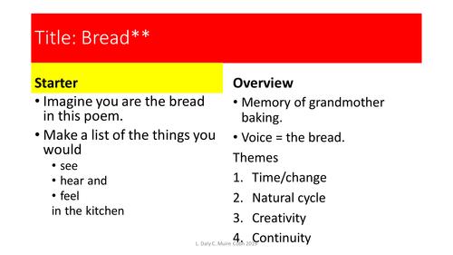 Bread Brendan Kennelly