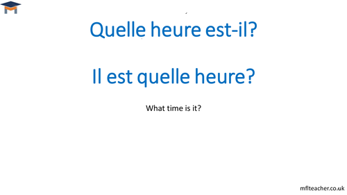 French - Telling the time
