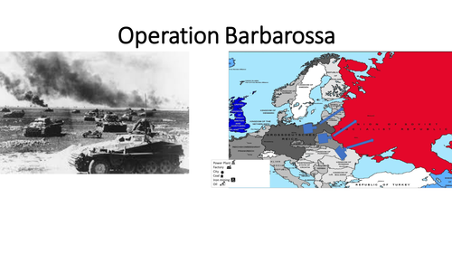 account of the operation barbarossa