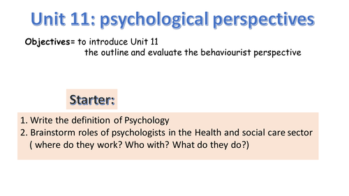 what are the perspectives in psychology