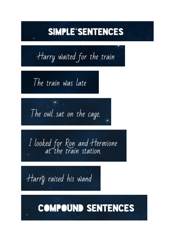 Harry Potter sentence type card match