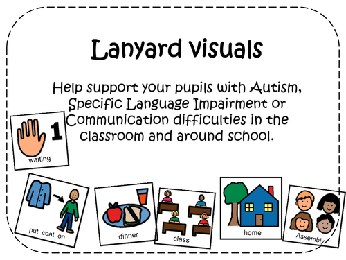 Lanyard Visuals for your pupils with Autism