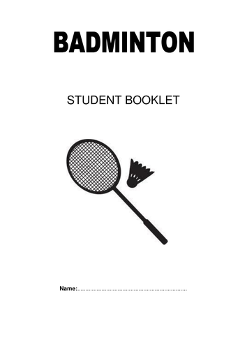 GCSE PE Badminton Unit Booklet