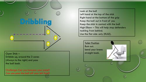Hockey Task Cards on Dribbling