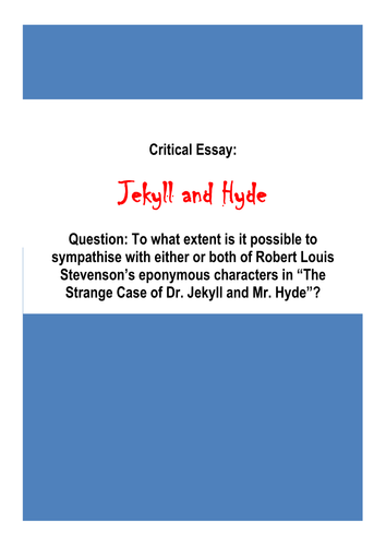 a grade gcse english literature essay jekyll and hyde by a grade gcse english literature essay jekyll and hyde by biggles1230 teaching resources tes