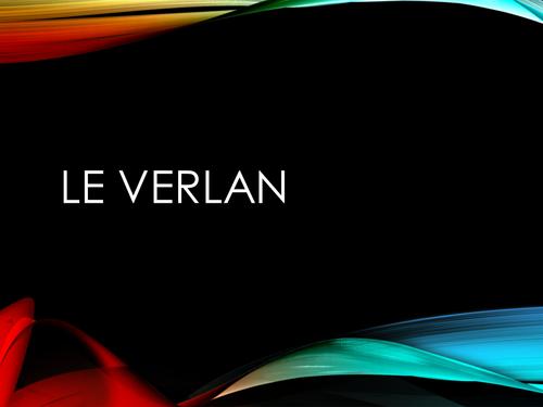 French Slang - Le Verlan