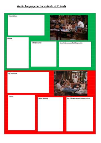 Eduqas GCSE Media Studies 9-1 Component 2a TV Sitcoms The IT Crowd and Friends Lesson 15-16 double