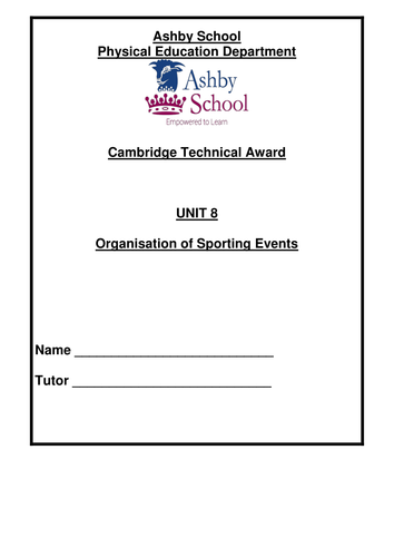 Cambridge Technical Sports